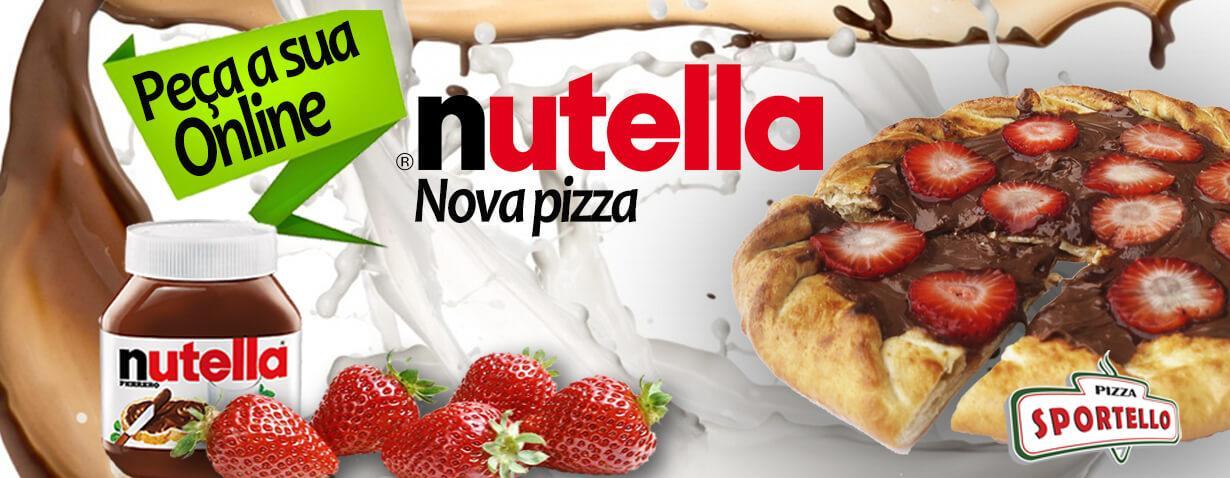 Nova pizza de NUTELLA