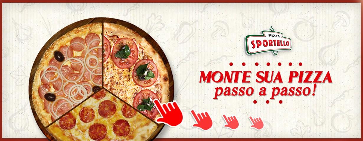 Monte sua pizza passo a passo