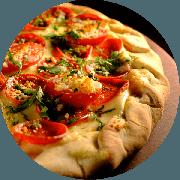 Premium: Pompeia - Pizza Média (Ingredientes: Creme de Alho, Molho de Tomate Cuko