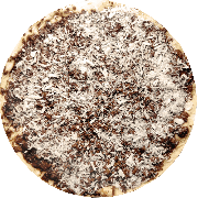 Doces: Prestigio - Pizza Broto (Ingredientes: Chocolate ao Leite, Coco Ralado)