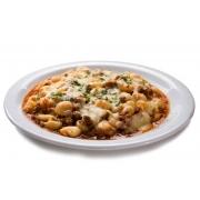 Nhoque: Nhoque de Frango - Massa Grande (Ingredientes: Filé de frango desfiado, Misturados a massa de nhoque especial, Molho branco)