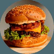 Hamburger: Beer Burger - Hambúrguer (Ingredientes: Alface, Bacon, Burger da Casa de 200g, Cebola na Ceveja, Cheddar, Maionese Caseira)