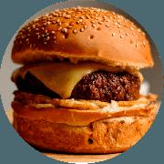 Hamburger: Cheese Burger - Hambúrguer (Ingredientes: Burger da Casa de 200g, Maionese Caseira, Mussarela, Ovo)