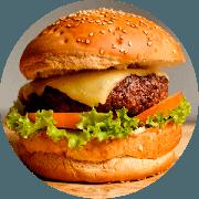 Hamburger: Classic Burger - Hambúrguer (Ingredientes: Alface, Burger da Casa de 200g, Maionese Caseira, Mussarela, Tomate)