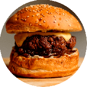 Hamburger: The Best Burger - Hambúrguer (Ingredientes: Burger da Casa de 200g, Cebola Ao Shoyu, Molho Gorgonzola, Mussarela)