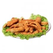 Porções: Isca de Peixe 250g - Petisco (Ingredientes: filé de peixe empanado e frito. acompanha molho rose.)