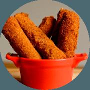Porções: Sticks De Mussarela - Individual (Ingredientes: Peitos De Mussarela Empanados)