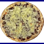 Salgadas: Carne Seca - Pizza Broto (Ingredientes: Carne Seca, Cebola, Mussarela, Salsinha)