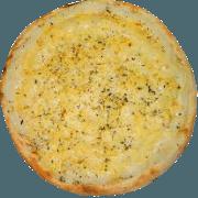 Salgadas: Cinco Queijos - Pizza Broto (Ingredientes: Catupiry, Gorgonzola, Mussarela, Parmesão, Provolone)