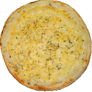Salgadas: Três Queijos - Pizza Broto (Ingredientes: Catupiry, Mussarela, Parmesão)