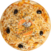 Tradicionais: Alho e Óleo - Pizza Gigante (Ingredientes: Alho Dourado no Azeite, Azeitona Preta, Molho Especial de Tomate, Mussarela, Orégano)