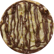 Pizzas Doces: Chocolate - Pizza Pequena (Ingredientes: Mussarela, Chocolate)