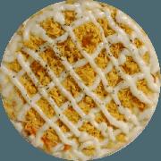Pizzas Tradicionais: Frango com Catupiry - Pizza Gigante (Ingredientes: Molho de Tomate, Mussarela, Orégano, Catupiry, Frango Desfiado)