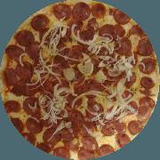 Pizzas Tradicionais: Calabresa - Pizza Gigante (Ingredientes: Molho de Tomate, Mussarela, Orégano, Calabresa, Cebola, Azeitona)