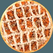 Tradicionais: Frango Com Requeijão Cremoso - Pizza Grande (Ingredientes: Frango Desfiado, Molho de Tomate, Orégano, Requeijão Cremoso)
