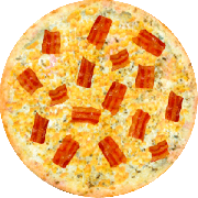 Tradicionais: Milho com Bacon - Pizza Grande (Ingredientes: Bacon, Milho, Molho de Tomate, Orégano)