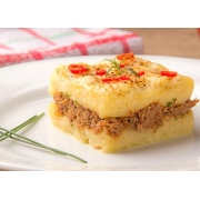 Escondidinhos: Escondidinho de Carne Seca - Pequena 400g (Ingredientes: Tempero especial Bel Mangio, Massa de Aipim, Batata Doce, Batata Inglesa, Recheada c/ Carne Seca Desfiada)