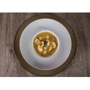 Capelete: Capelete de Carne (600g) - Pequena 400g (Ingredientes: Tempero especial Bel Mangio, Recheado com carne bovina aromatizada, Caldo de Carne)