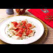 Massas: Raviole de Linguiça Blumenau - Pequena 600g (Ingredientes: Temperos Especiais Bel Mangio, Recheado com Linguiça Blumenau)