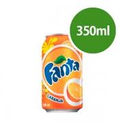 Refrigerantes: Fanta Laranja Lata 350ml - Refrigerante de Laranja