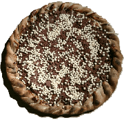 Doces: Chokito - Pizza Grande (Ingredientes: Chocolate Branco, Chocolate Preto, Flocos de Arroz)
