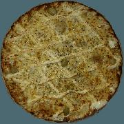 Tradicionais: Quatro Queijos - Pizza Pequena (Ingredientes: Azeitona, Gorgonzola, Molho de Tomate, Muçarela, Orégano, Parmesão, Provolone)