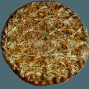 Premium: Camarão - Pizza Pequena (Ingredientes: Azeitona, Camarão, Molho de Tomate, Muçarela, Orégano, Requeijão)