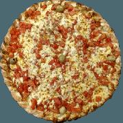 Tradicionais: Margherita - Pizza Pequena (Ingredientes: Azeitona, Manjericão, Molho de Tomate, Muçarela, Orégano, Parmesão, Tomate Picado)