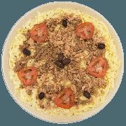 Pizzas Salgadas Semi Pronta: Atum (10) - Pizza Grande (Ingredientes: Atum, Azeitona, Molho de Tomate, Mussarela, Orégano, Tomate)