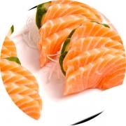 Sashimi: Sashimi Salmão 8 Cortes - Salmão