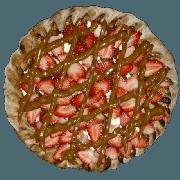 Doces: Sensação Preto - Pizza Pequena (Ingredientes: Chocolate Preto, Creme de Leite, Morango)