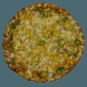 Tradicionais: Vegetariana Especial - Pizza Pequena (Ingredientes: Azeitona, Brócolis, Milho, Molho de Tomate, Muçarela, Orégano, Palmito)