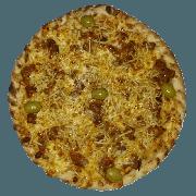 Especiais: Estrogonofe de Filé - Pizza Pequena (Ingredientes: Azeitona, Batata Palha, Molho de Tomate, Muçarela, Orégano, Strogonoff de Carne)