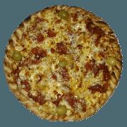 Premium: Parma com Muçarela de Búfala - Pizza Pequena (Ingredientes: Azeitona, Molho de Tomate, Muçarela, Muçarela de Búfala, Orégano, Presunto Parma)