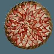 Doces: Sensação Branco - Pizza Pequena (Ingredientes: Chocolate Branco, Creme de Leite, Morango)