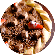 Doces: KIT KAT - Pizza Média (Ingredientes: Chocolate, Deliciosa Massa Doce Cuko