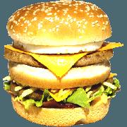 Hambúrguer: 06- Duplo X Egg + Bacon - Lanche (Ingredientes: Pão, 2 Hamburgueres, 2fatias de queijo cheddar, Ovo, Bacon, Alface, Cebola, Molho Especial, Ketchup, Mostarda, Maionese, Batata Palha)