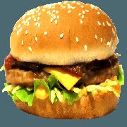 Hambúrguer: 13- X Bacon - Lanche (Ingredientes: Pão, Hambúrguer, Queijo Cheddar, Bacon, Alface, Cebola, Molho Especial, Ketchup, Mostarda, Maionese, Batata Palha)