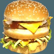 Hambúrguer: 12- Duplo - Lanche (Ingredientes: Pão, 2fatias de queijo cheddar, Cebola, Molho Especial, Batata Palha, Ketchup, Mostarda, Maionese, 2 Hamburgueres, Alface)