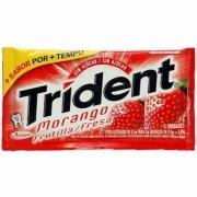 Doce: Trident Morango - Chiclete Trident Morango