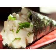 Temaki: Temaki Peixe Branco - Peixe Branco, limão e cebolinha
