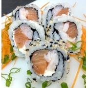 Uramaki: Uramaki Salmon Ebi 10 Unidades - Salmão, camarão e cream