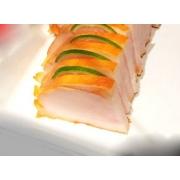 Sashimi: Sashimi Anchova 8 Cortes - Camarão cozido envolto por Salmão
