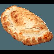 Calzone: Bauru - Calzone Médio (Ingredientes: Atum, Azeitona, Milho, Mussarela, Presunto)