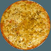 Tradicionais: Alho e Óleo - Pizza Média (Ingredientes: Alho Crocante, Azeitona, Mussarela, Orégano, Parmesão)
