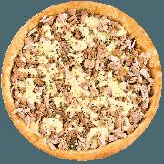 Tradicionais: Atum com Catupiry - Pizza Média (Ingredientes: Atum, Azeitona, Catupiry, Mussarela, Orégano)