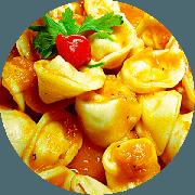 Capeletti: Capeleti (Serve 2 pessoas) Ao sugo - Massas (Ingredientes: molho ao sugo)