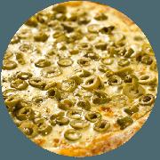 Tradicionais: Azeitona - Pizza Média (Ingredientes: Azeitona, Mussarela, Orégano)
