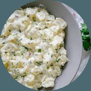 Guarnições: Salada de Batata c/ Maionese - Porção (Ingredientes: Salada de Batata c/ Maionese)