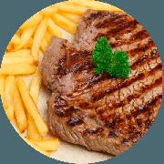 Filet Mignon: Filet Mignon Grelhado Acebolado - Pratos a La Carte (Ingredientes: Escolha até dois acompanhamentos)